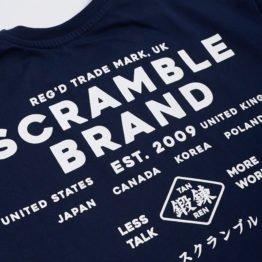 Scramble Less Talk Tee - Navy
