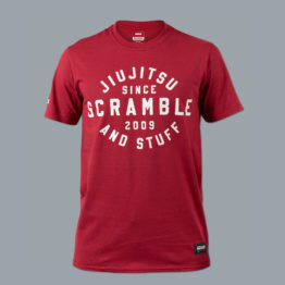 Scramble Jiu Jitsu and Stuff Type Tee - Red