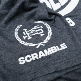 Scramble Jiu Jitsu and Stuff Surf Tee - Grey